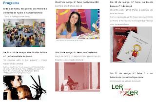 folheto da semana da leitura com a Dra. Fátima Moniz