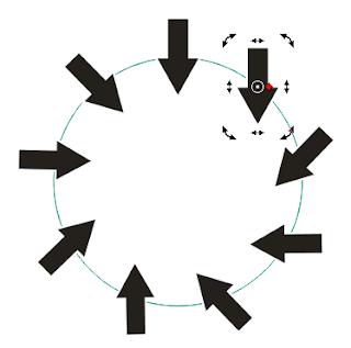 Cara Membuat Objek Mengikuti Garis Objek Lain ( Lingkaran ) di CorelDRAW