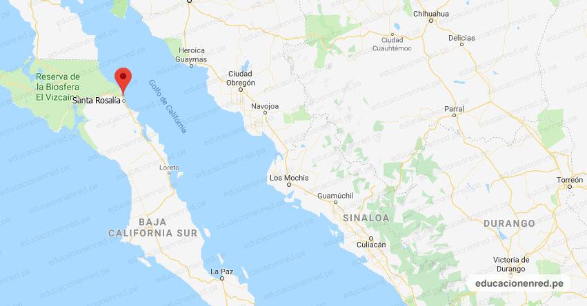 Temblor en México de Magnitud 4.1 (Hoy Jueves 18 Junio 2020) Sismo - Epicentro - Santa Rosalía - Baja California Sur - B.C.S. - SSN - www.ssn.unam.mx