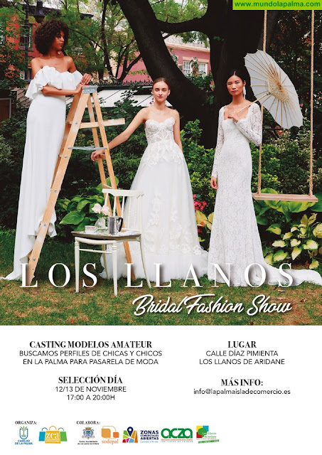"""La Zona Comercial Abierta de Los Llanos de Aridane convoca un casting de modelos amateur para la pasarela """"Los Llanos Bridal Fashion Show"""""""