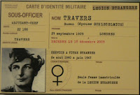Carnet de la Legión extranjera de Susan Travers