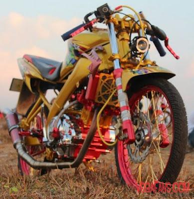 Foto Modifikasi Motor Vixion Thailook Kuning
