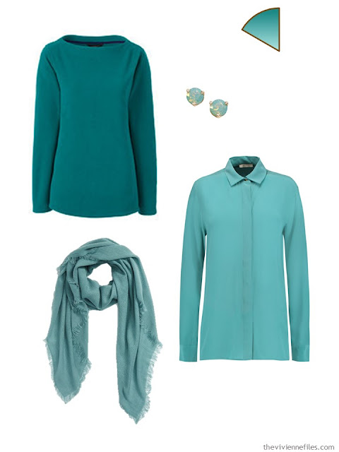 Jade accents for a capsule wardrobe
