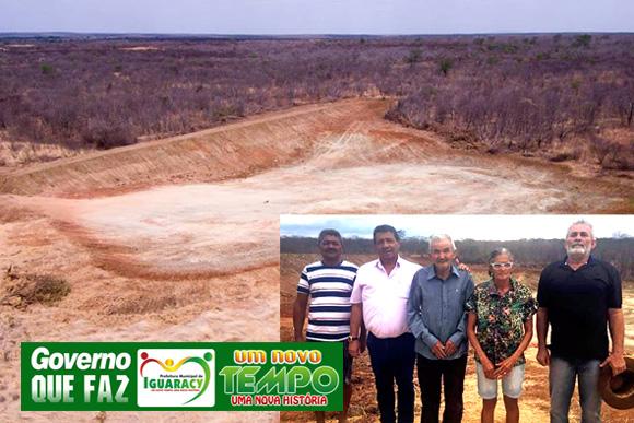 Prefeito Zeinha Torres confere as obras da Barragem da comunidade do Sabino e diz que é mais um passo para acabar com a lata d'água na cabeça em seu município.