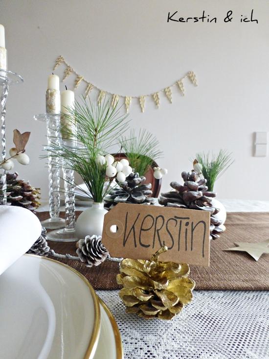 kerstin ich selbermachen weihnachtliche tischdeko mit diy vasen und strohhalm girlande. Black Bedroom Furniture Sets. Home Design Ideas