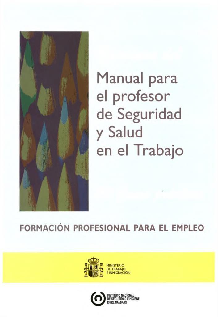 Manual para el profesor de seguridad y salud en el trabajo for Oficina virtual de formacion profesional para el empleo