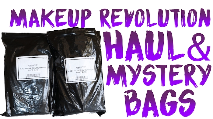 Check out my Makeup Revolution haul, and the contents of TWO Revolution Beauty FREE Mystery Bags.