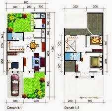 desain rumah minimalis 2 lantai luas tanah 72 m - foto
