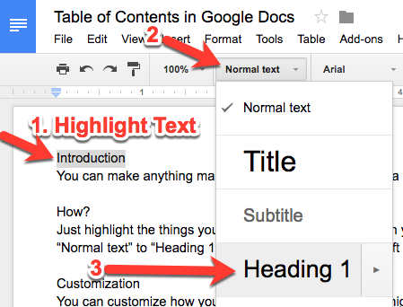 Teachingtechnix google docs insert table of contents for Table of contents google docs