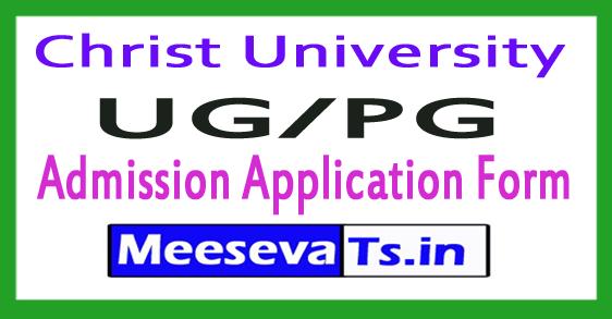 Christ University UG/PG Admission 2017-18