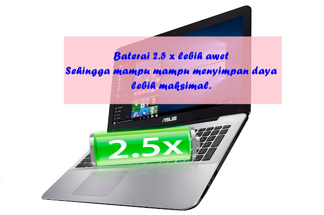 Baterai laptop ASUS X555
