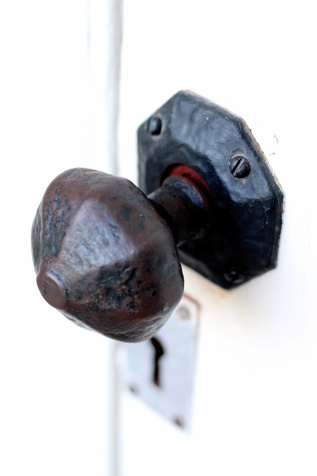 Close up Canon photography of old doorknob