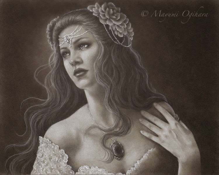 Elegance for the theme In Between by Enchanted Visions Artist Mayumi Ogihara