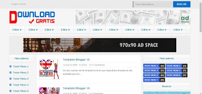 Template Blogger 3 colunas Download