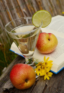 books, fruit, drink, flowers pic