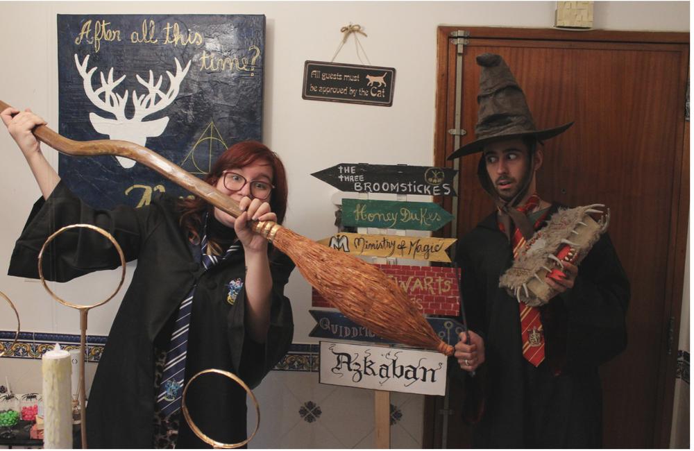Harry Potter birthday party + festa de aniversário + 25 anos + blogue de casal + lifestyle + Harry Potter + decoração Harry Potter + wc hp + comida harry potter + decor + blogue ela e ele + ele e ela