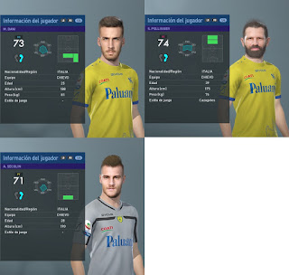 PES 2019 Facepack Chievo Verona by Francisco1507