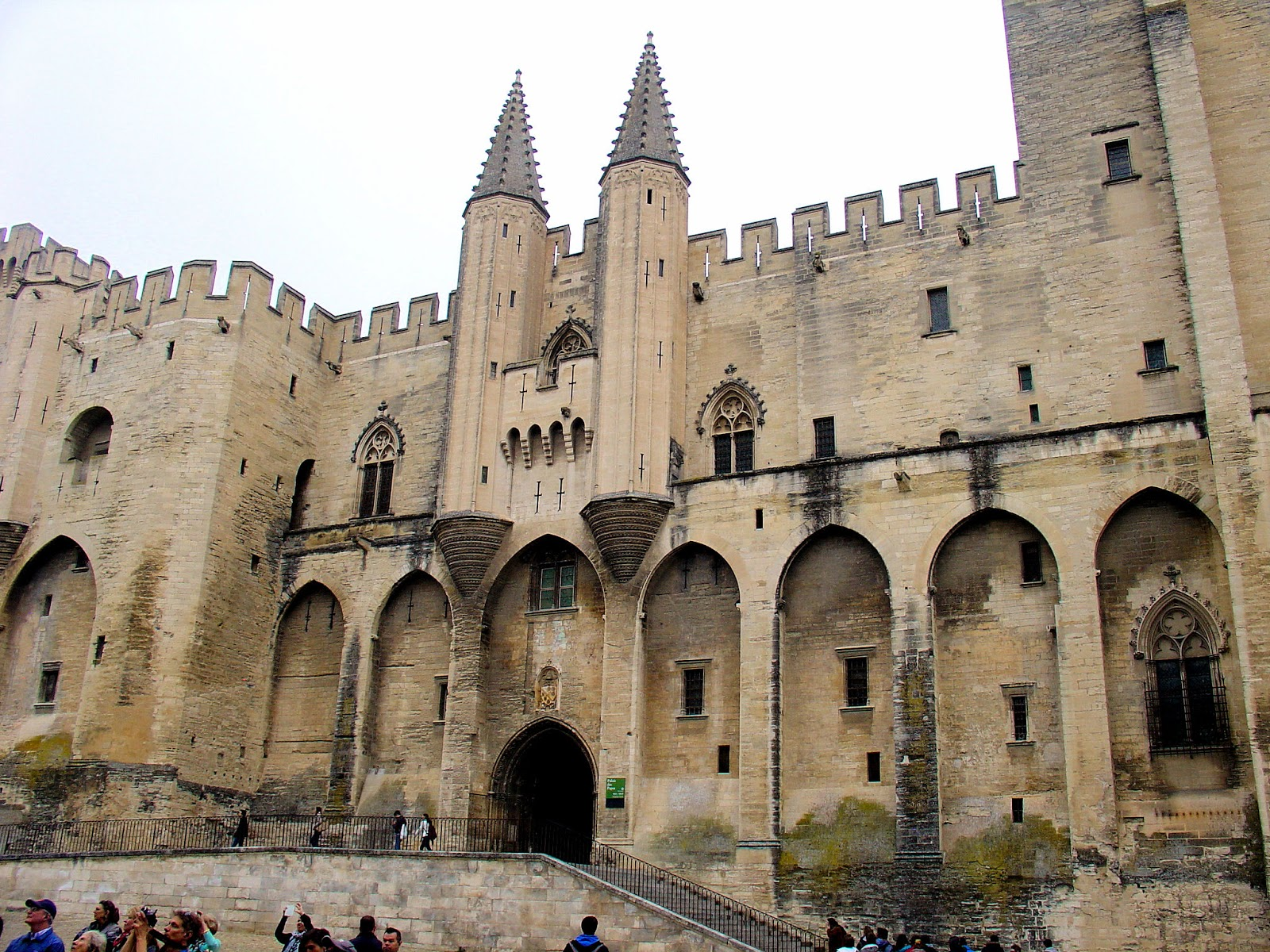 The main entrance to the Papal Palace in Avignon.