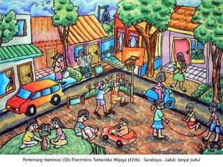 Pendidikan Sekolah Dasar Lukisan Anak Sd