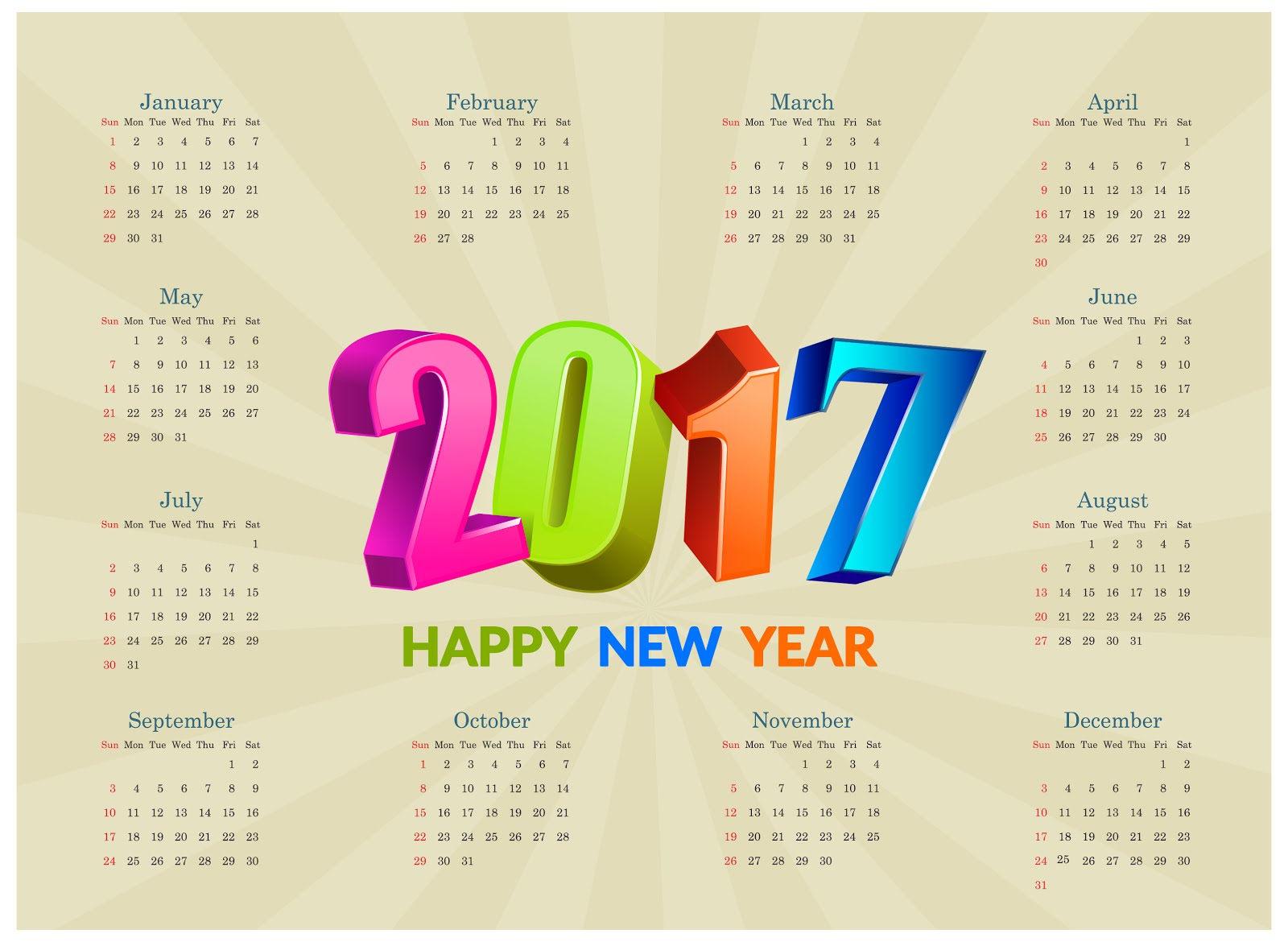 calendar 2017 templates EPS | calendars 2018 kalendar 2018 ...
