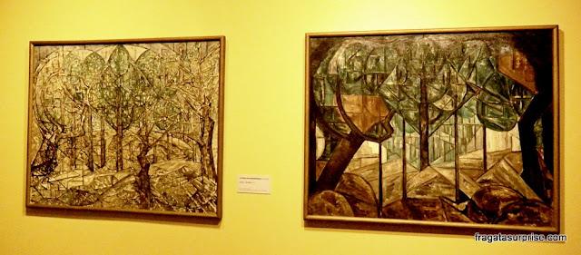 Obras da pintora holandesa Jacoba van Heemskerck, amiga e interlocutora de Mondrian