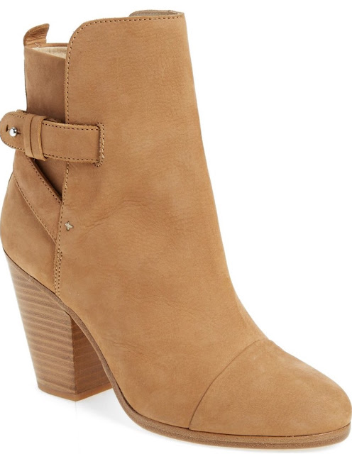 994eafec5e9 After Sale   595.00)  Crossed leather straps intensify the effortless  glamour of a striking stacked-heel ankle bootie crafted from rich
