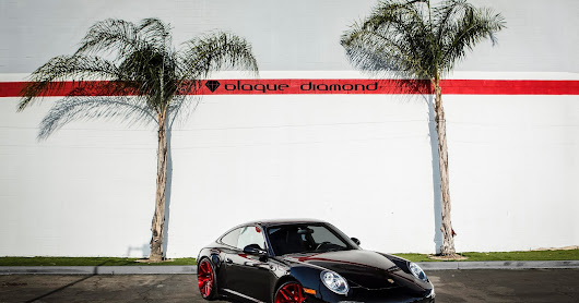 2012 Porsche 911 Black Edition Fitted With 20 Inch BD-3's in Brushed Candy Apple Red