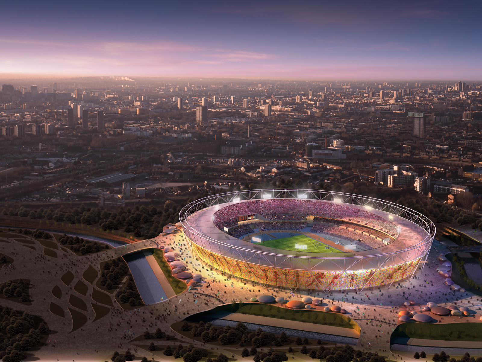 Amazing London Olympic Stadium 2013 England Hd Desktop