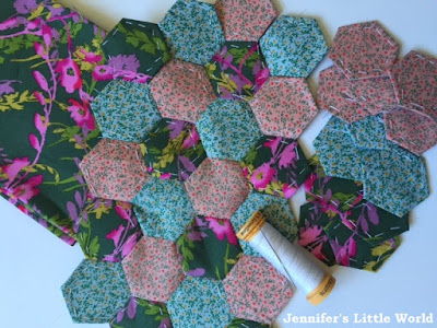Mini patchwork hexagons phone case