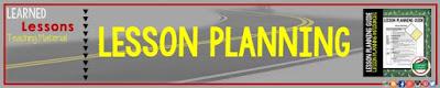 Lesson Planning Guide, Lesson Plans
