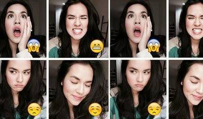 Raisa selfie emoticons