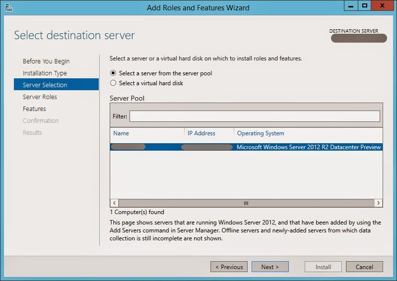 How to install NetFx3 on Windows Server 2012 R2 (Required by SQL