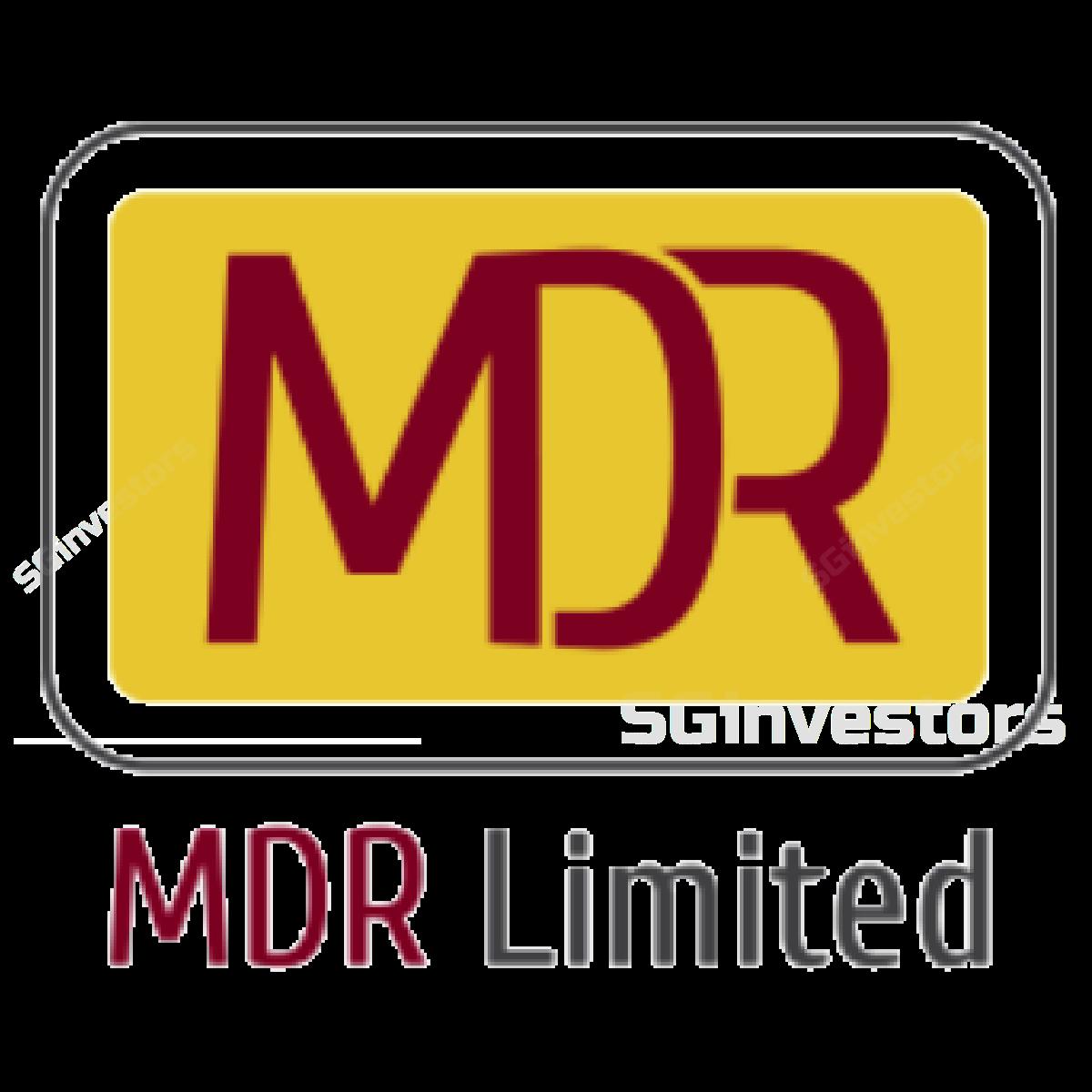 MDR LIMITED (SGX:Y3D) @ SGinvestors.io