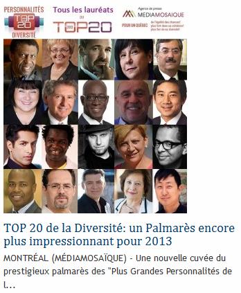 Top 20 de la Diversité