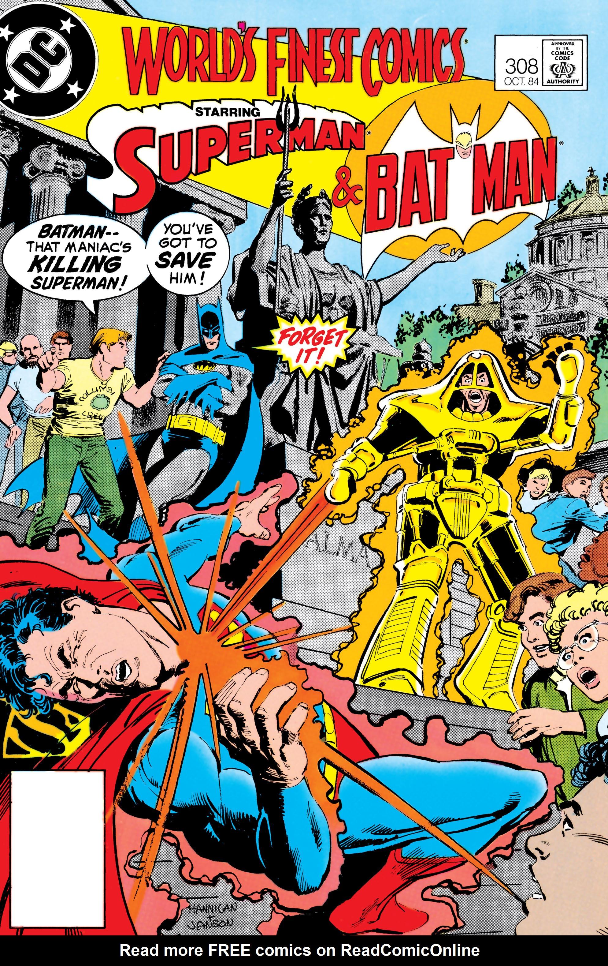 Read online World's Finest Comics comic -  Issue #308 - 1