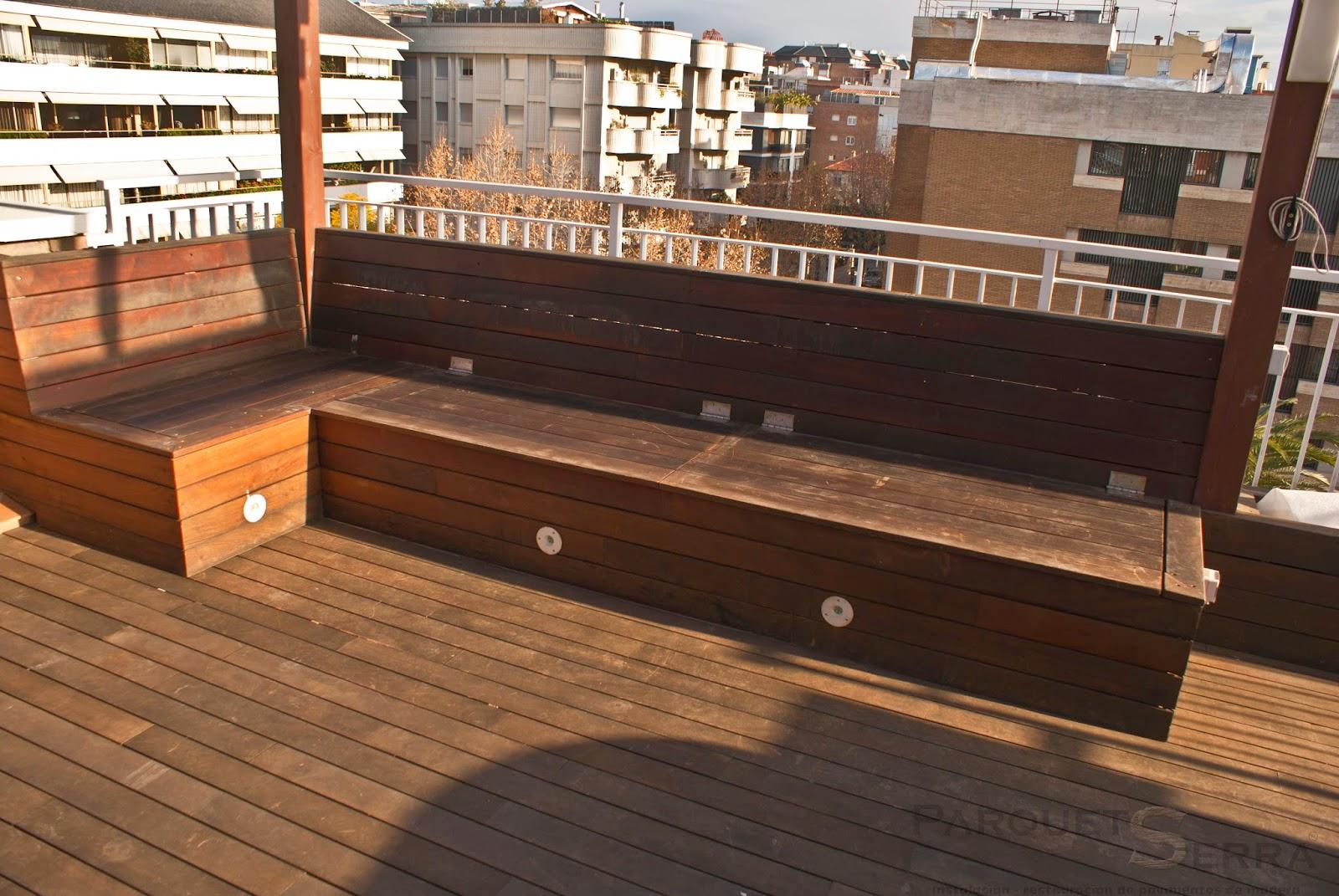 suelo de madera exterior para terraza