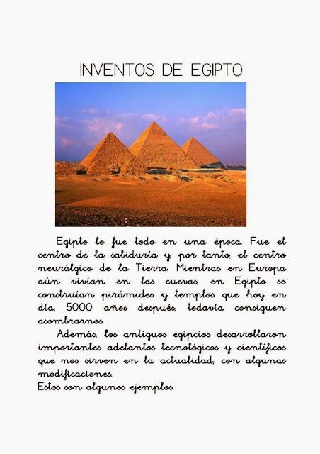 taller Egipto para niños, inventos egipcios