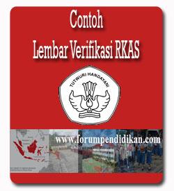 Contoh Lembar Verifikasi RKAS