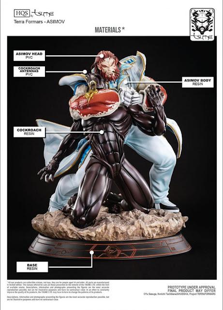 """Sylvester Asimov HQS de """"Terra Formars"""" - Tsume Art"""