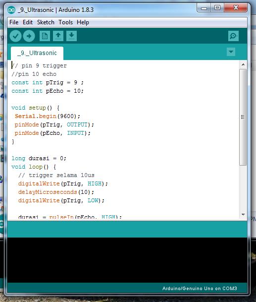 Gambar 2 4 Software IDLE Arduino (Sumber : Percobaan)