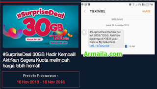 Surprise Deal Telkomsel 30GB November 2018