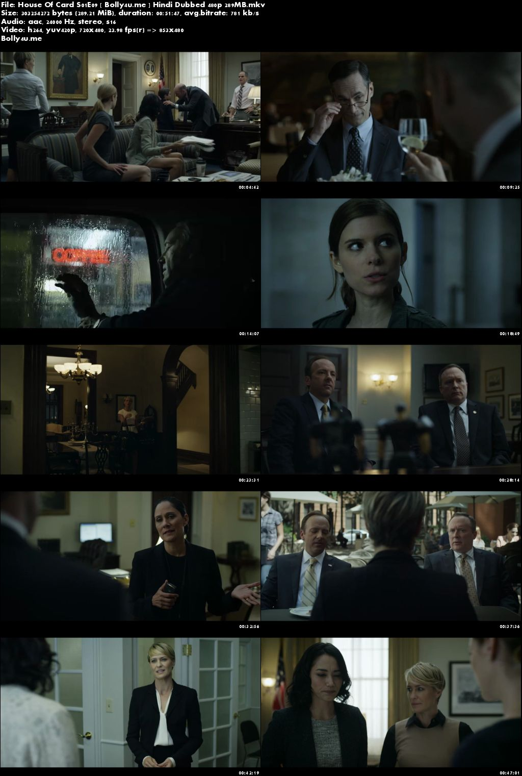 House Of Cards S01E09 Hindi Dubbed 480p 280MB Download