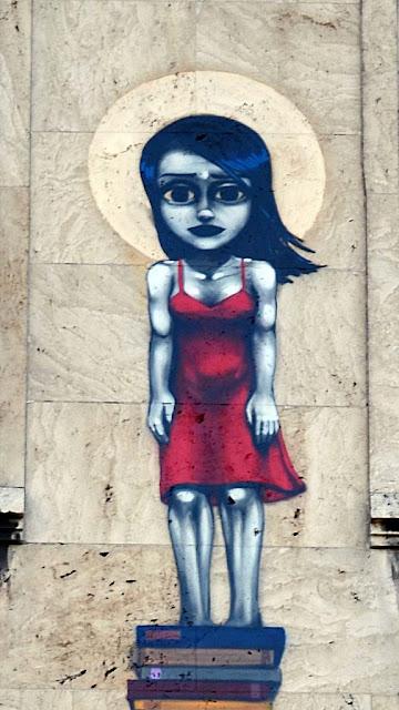 Street Art By Brazilian Artist Tinho On The Streets Of Frankfurt, Germany. details 2