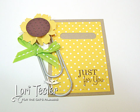 Sunflower book mark-designed by Lori Tecler/Inking Aloud-stamps from The Cat's Pajamas
