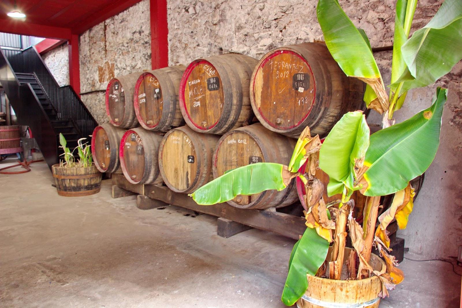 as pipas que determinam a qualidade do Madeira