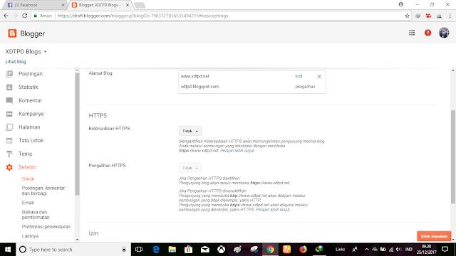 Update !! Fitur Terbaru Mengaktifkan SSL/HTTPS Dari Blogger Untuk Domain TLD