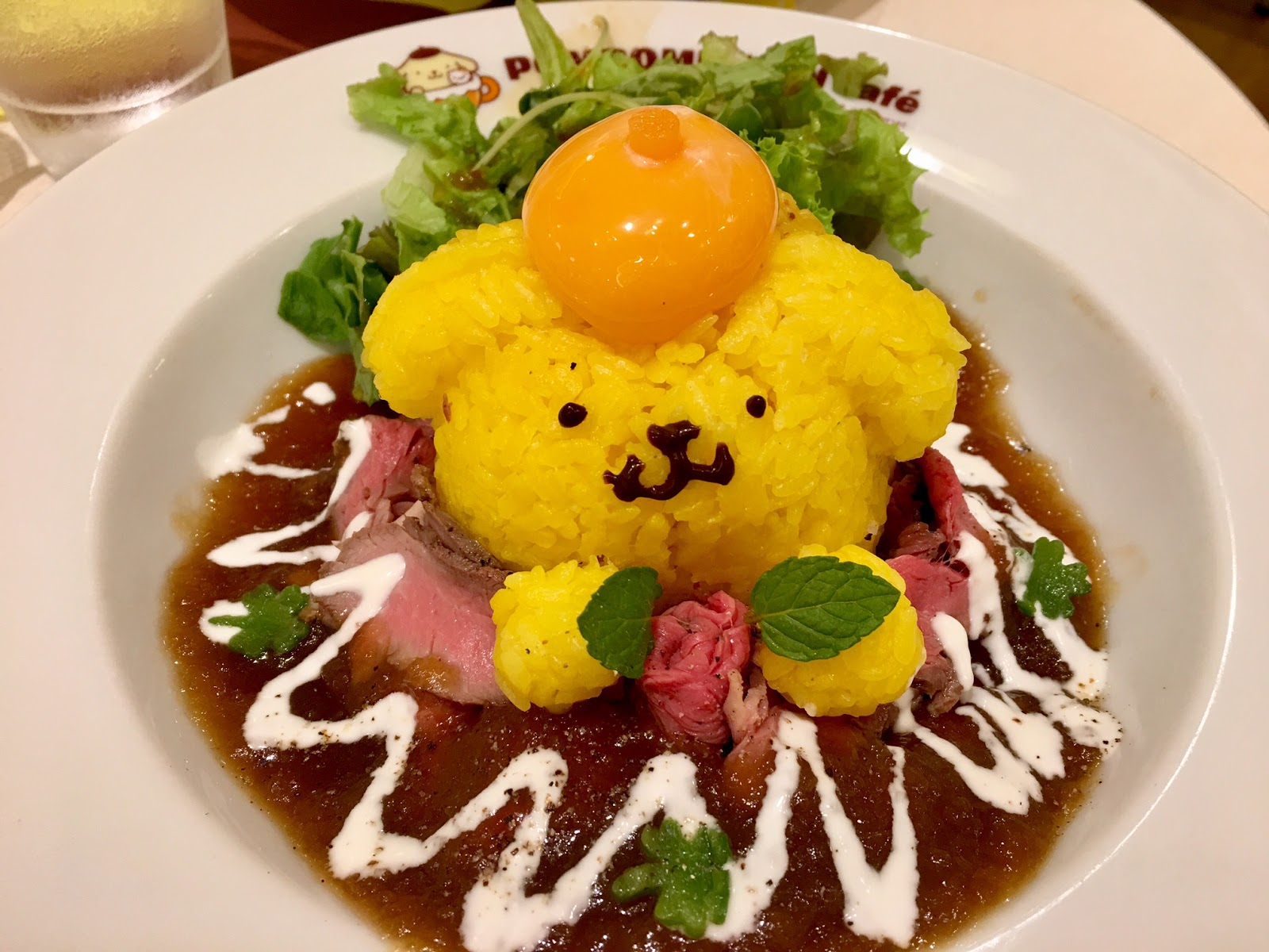 Pompompurin Cafe Roast Beef Donburi