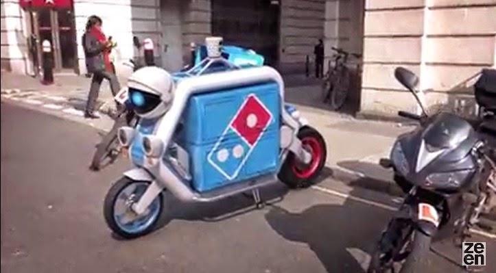 Primera moto de entrega de Domino´s Pizza no tripulada en el mundo.