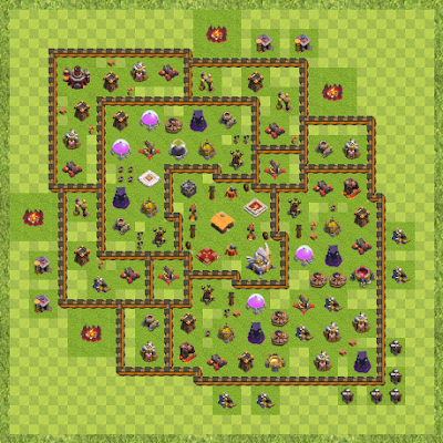 Clash Of Clans Base Layout Wn Hall