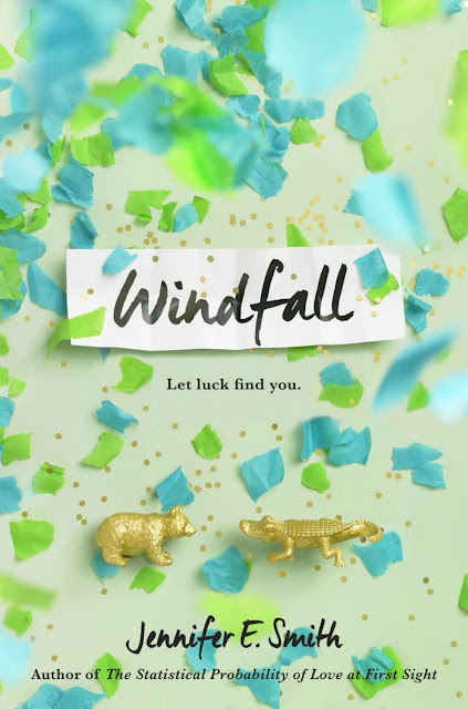 Beautiful 2017 Book Cover Designs Windfall Jennifer E. Smith Creative Colorful Green and Blue